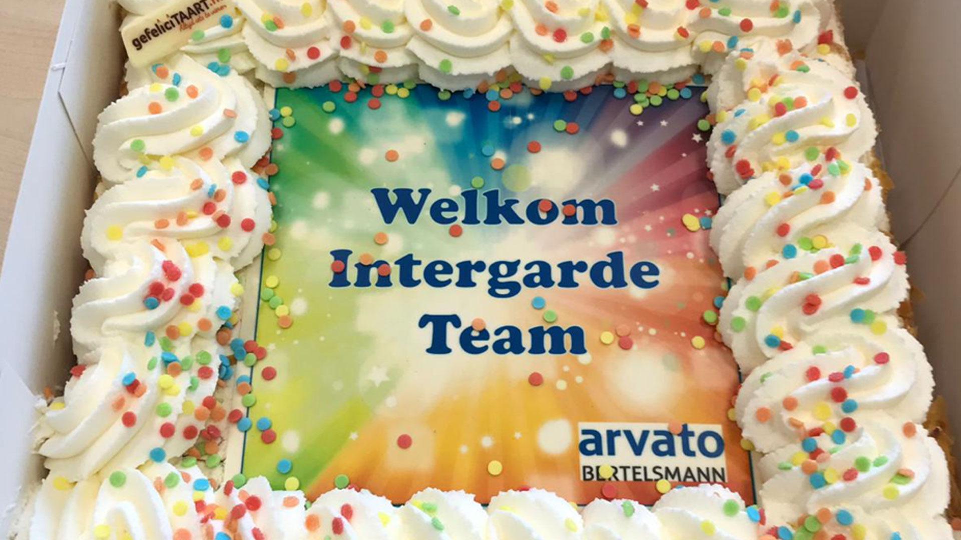 Taart aanbesteding Arvato en Intergarde