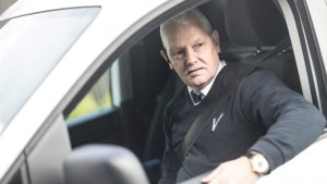 Mobiel surveillant Intergarde in beveiligingswagen