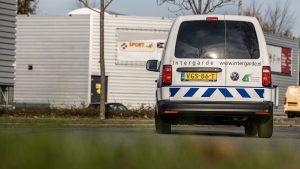 Mobiele surveillance van Intergarde op de weg